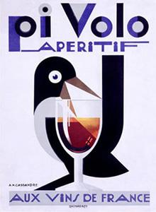A.M. Cassandre - Affiche pour l'apéritif Pivolo (1924)