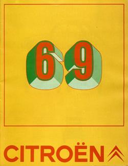 Brochure pour Citroën (1968)