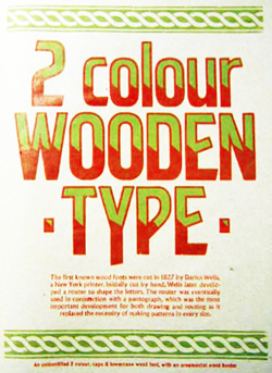 2 colour wooden type