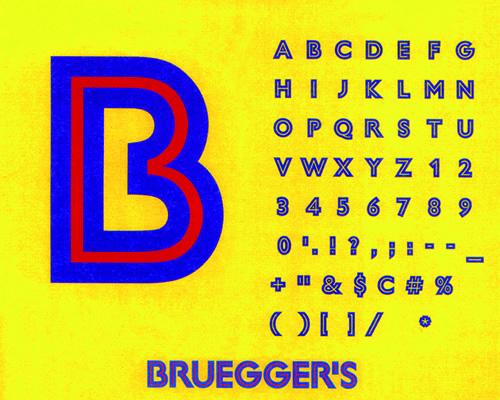 Milton Glaser - caractère Brugger pour la société Bruegger's