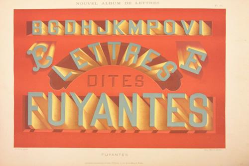 Nouvel album de lettres fuyantes, chromolithographie française